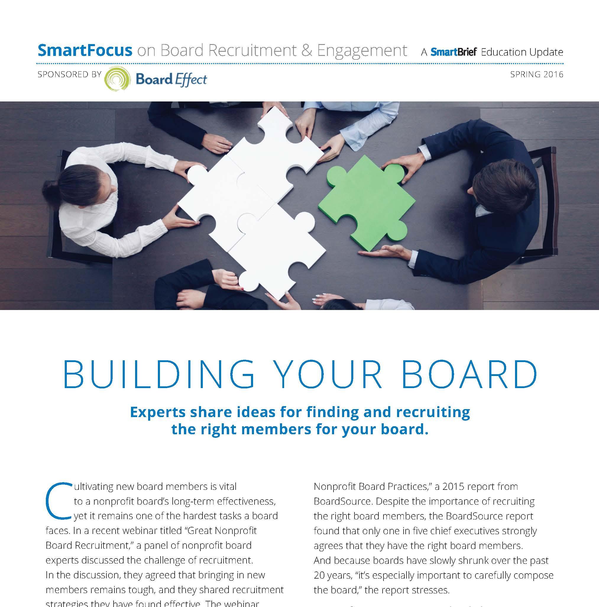 Building Your Board A Board Recruitment Guide Boardeffect