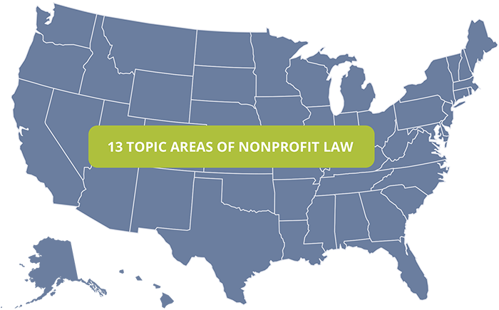 13 Topic Areas Of Nonprofit Laws