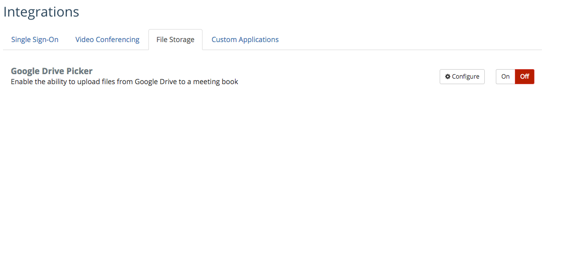 Google Drive: File Storage