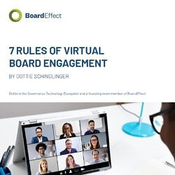 The 7 Rules Of Virtual Board Engagement