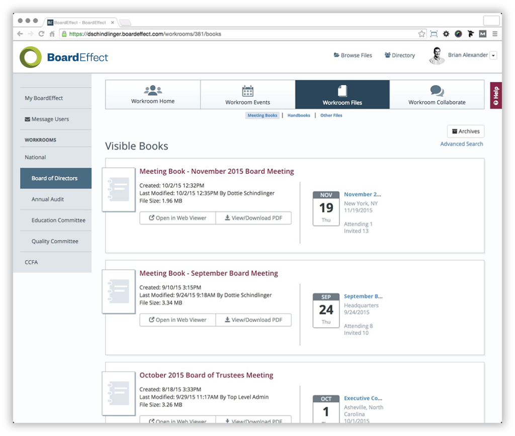 Board Portal - Board Meeting Software - Nonprofit Board Portal Example