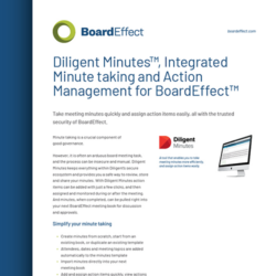 Diligent Minutes For BoardEffect