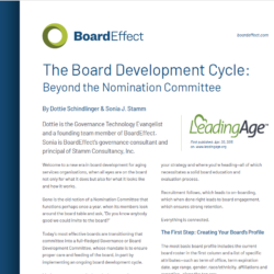 The Board Development Cycle: Beyond The Nomination Committee