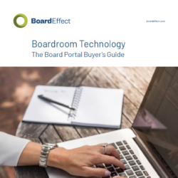 Boardroom Technology: The Board Portal Buyer's Guide