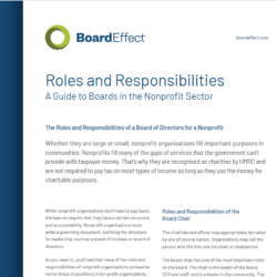 The Roles And Responsibilities: Nonprofit Board Of Directors