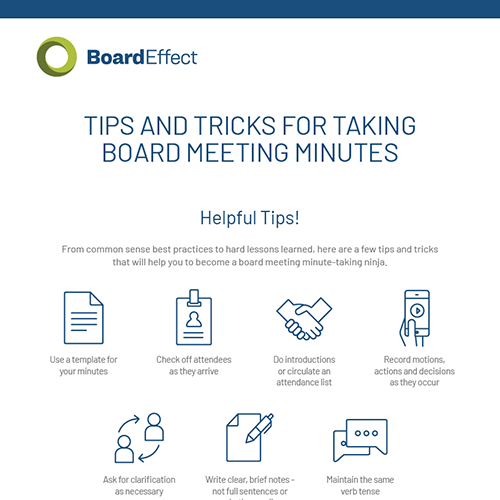 How To Take Meeting Minutes Kit