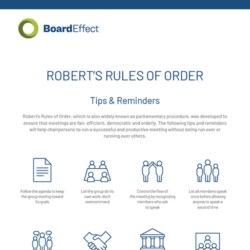 Robert's Rules - Cheat Sheet