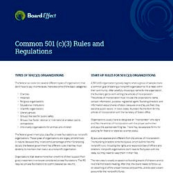 Common Rules & Regulations
