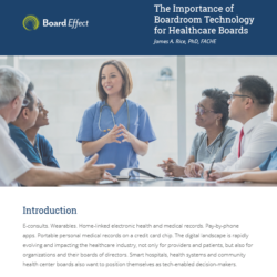 The Importance Of Boardroom Technology For Healthcare Boards