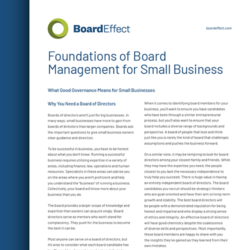 Foundations Of Board Management For Small Business