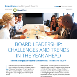 Board Leadership: Challenges & Trends In 2016