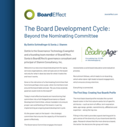 The Board Development Cycle
