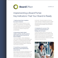 Implementing A Board Portal: Key Indicators Your Board Is Ready