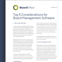 Top 5 Considerations For Board Management Software
