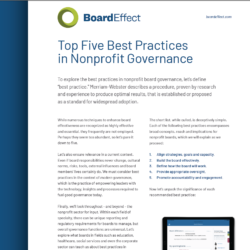 Top 5 Best Practices In Nonprofit Governance
