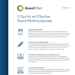 5 Tips For An Effective Board Meeting Agenda