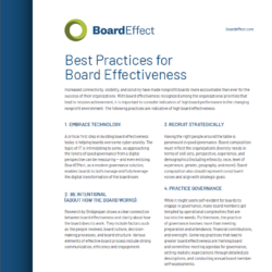 The Nonprofit's Guide To Board Effectiveness