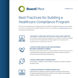 Best Practices For Building A Healthcare Compliance Program