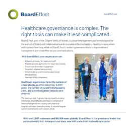 BoardEffect For Healthcare Organizations