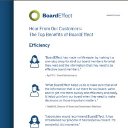 Hear From Our Customers: The Top Benefits Of BoardEffect
