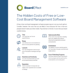 The Hidden Costs Of Free Or Low-Cost Board Management Software