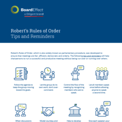 Robert's Rules Of Order - Tips And Reminders