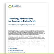 Technology Best Practices for Governance Professionals